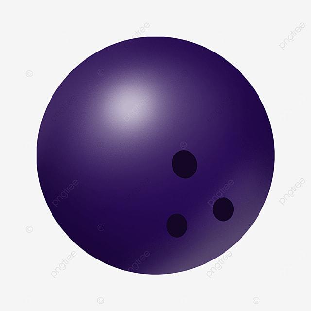 purple gradient bowling clip art