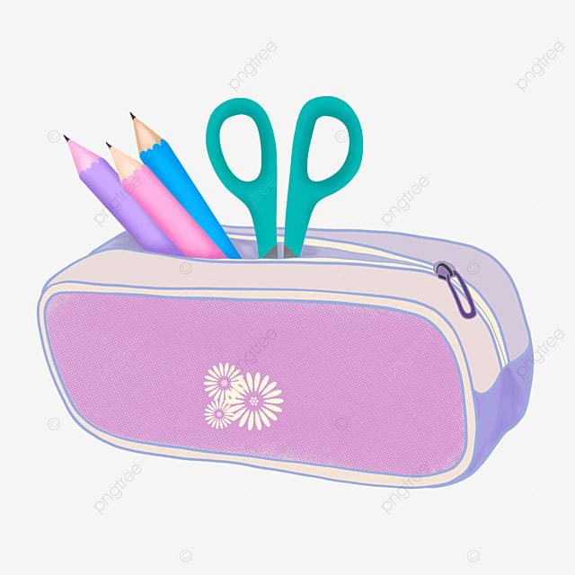 purple pencil case pencil case clipart