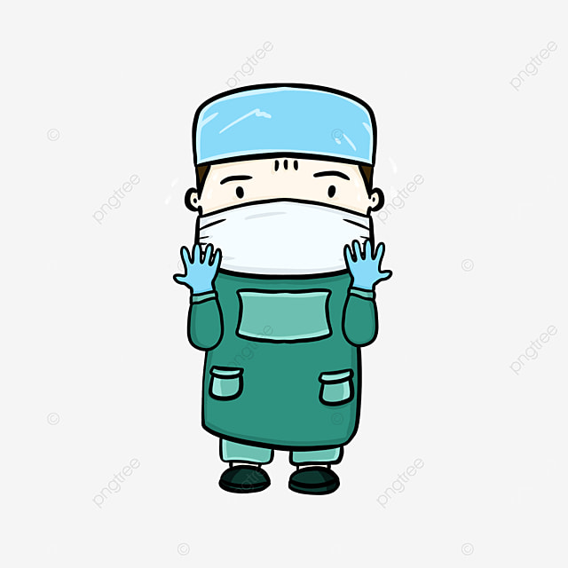 q version modeling surgeon clipart