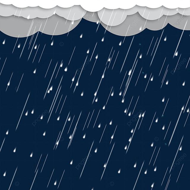 rainy weather line raindrops