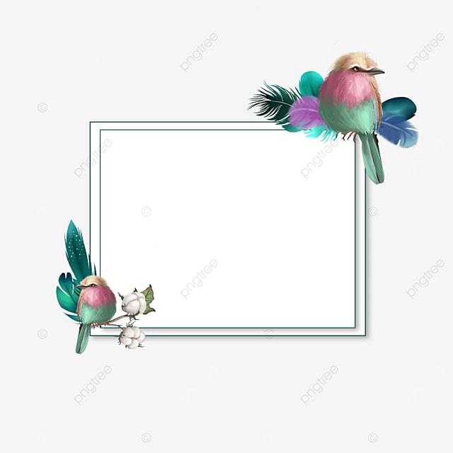 rectangular dark green feather decorative border