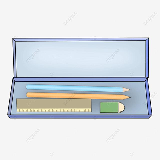 rectangular pencil box clip art