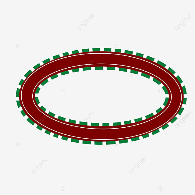red curving race track clip art