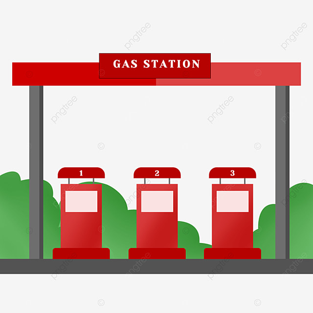 red gas station clip art
