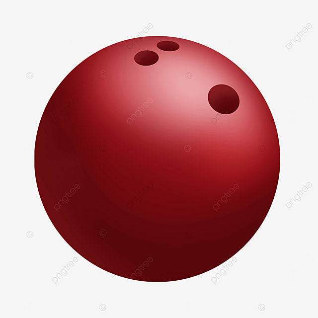 red gradient bowling clip art