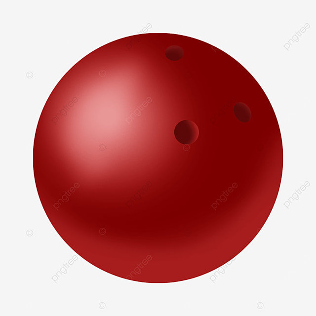 red gradient shadow reflective bowling ball clipart