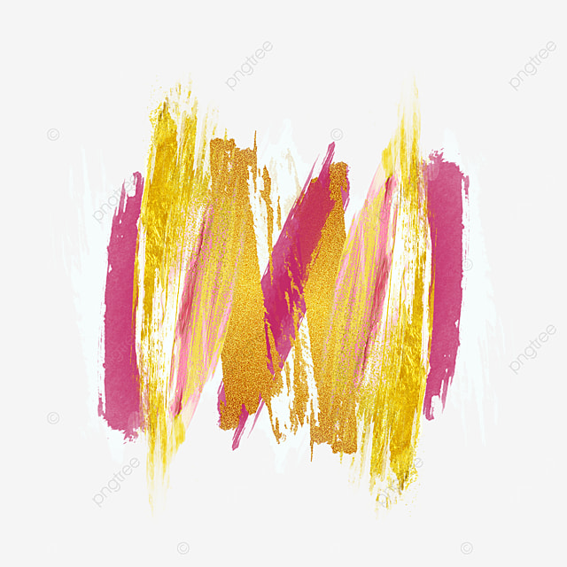 red mixed color gold pink brush
