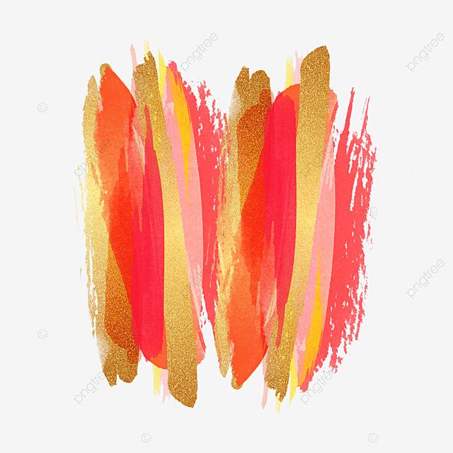 red overlay golden pink brush effect
