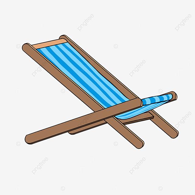 resting beach chair clip art