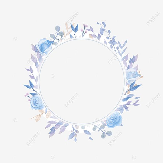 ring wedding blue rose border