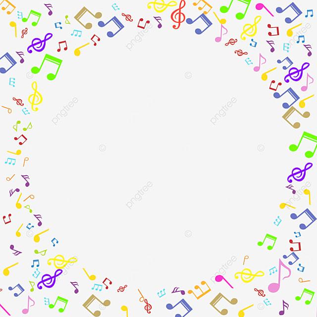 round color creative music note border