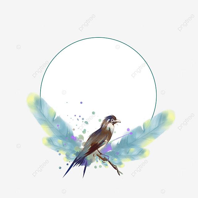 round gradient color feather decorative border