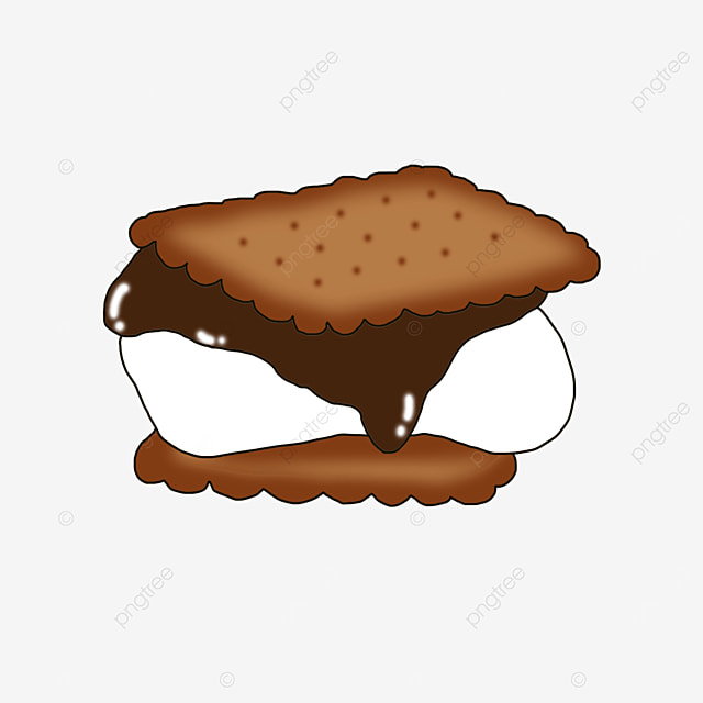 sandwich chocolate graham cookies clip art