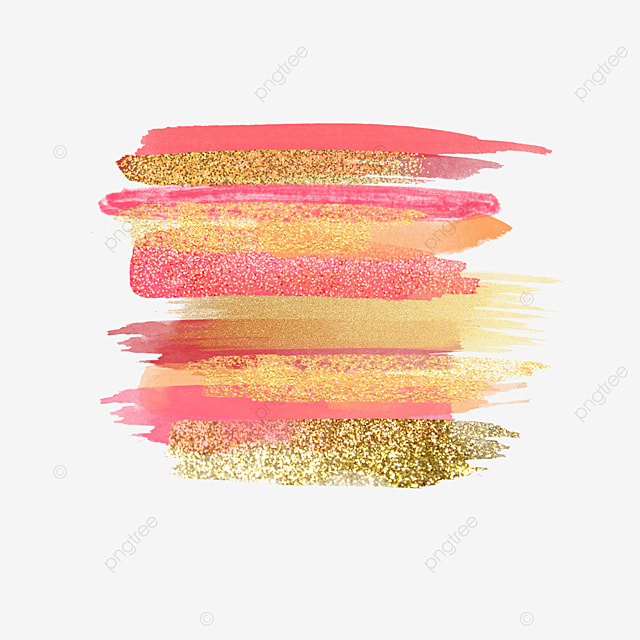 shining grainy red overlay gold pink brush