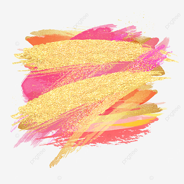 shiny overlay golden pink brush