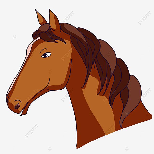 side horse head clip art