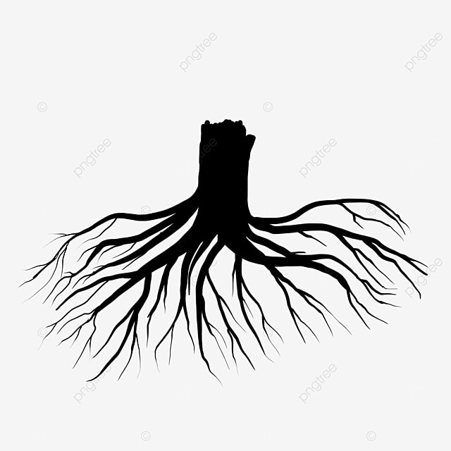 silhouette tree root clip art