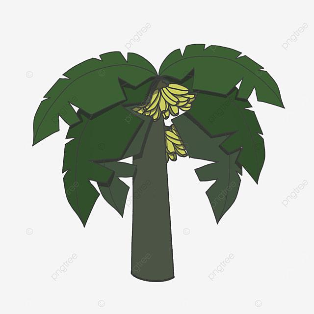 six leaf banana tree clip art