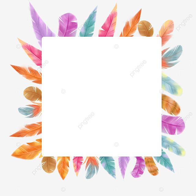 square color feather border