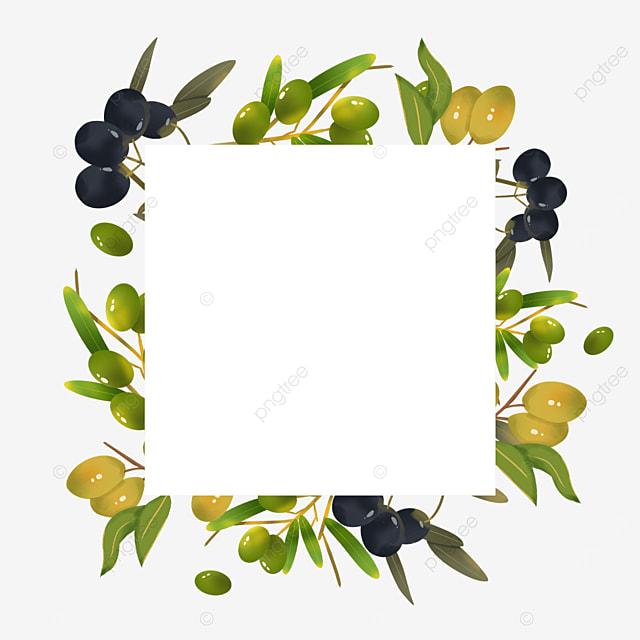 square geometric olive creative border