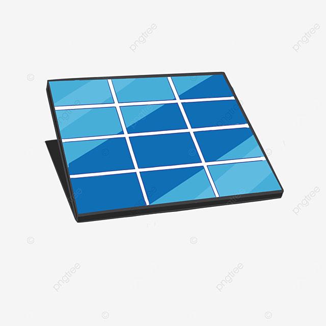 square solar panel clip art