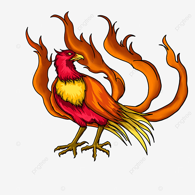 squatting side phoenix clipart