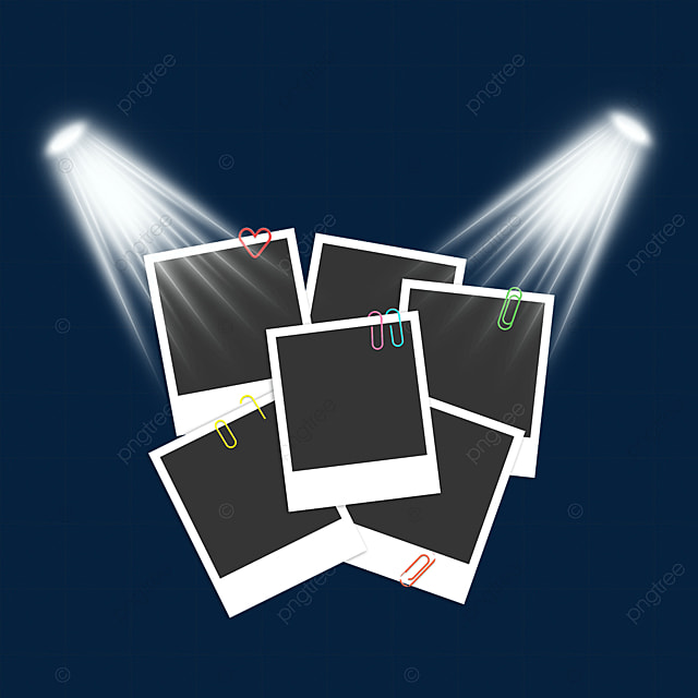stage light photo paper photo frame