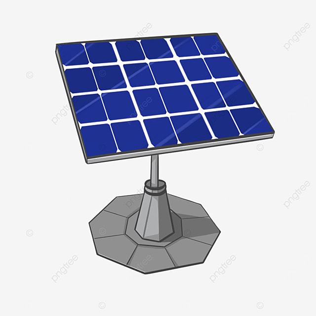standing solar panel clipart