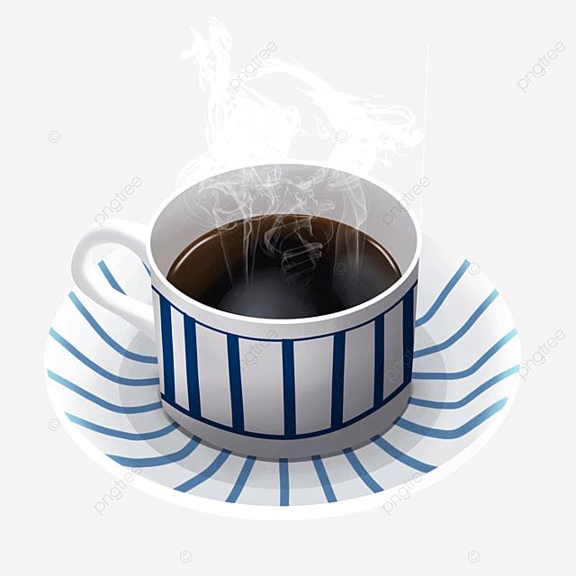 striped pattern cup steam smoke coffee