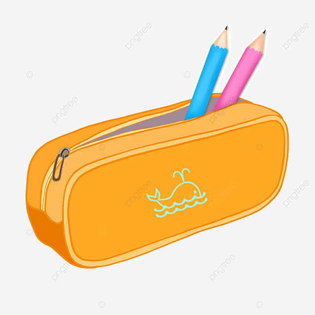 student stationery pencil case clipart