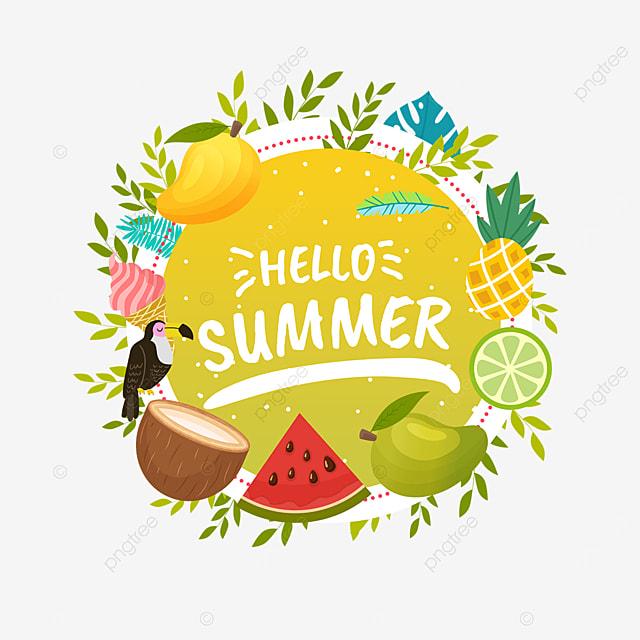 summer colorful fruit border