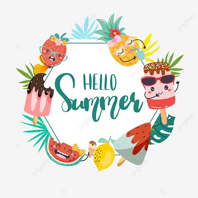 summer cute fruit border