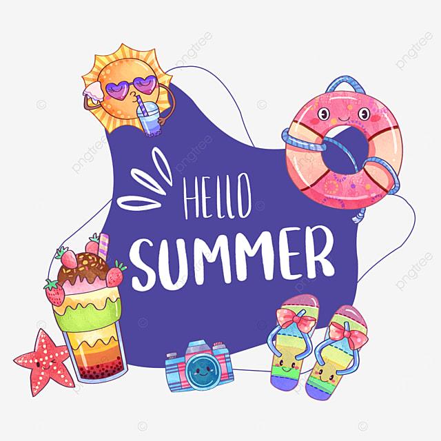 summer cute fruit drink border