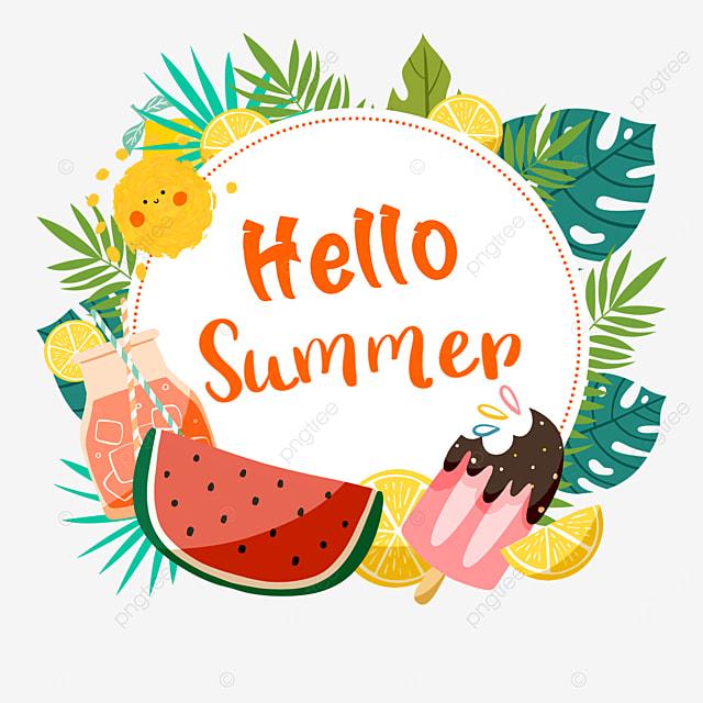 summer cute fruit ice cream border
