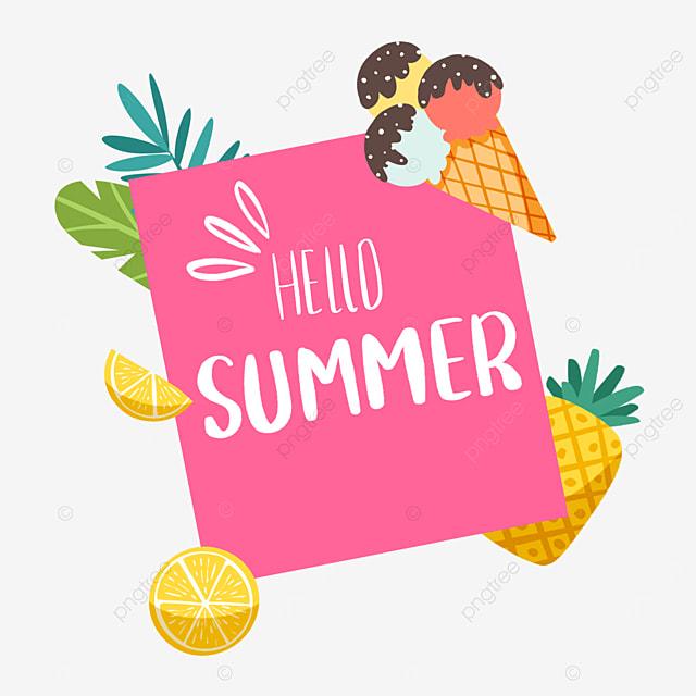 summer cute fruit lemon border