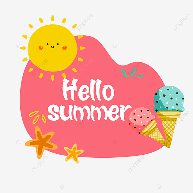 summer cute fruit two color ice cream border