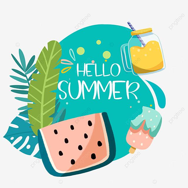 summer cute fruit watermelon drink border