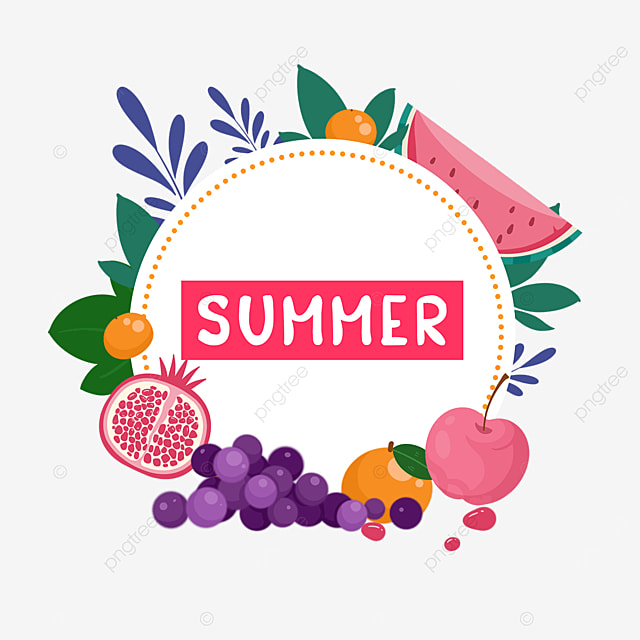 summer fruit plant border