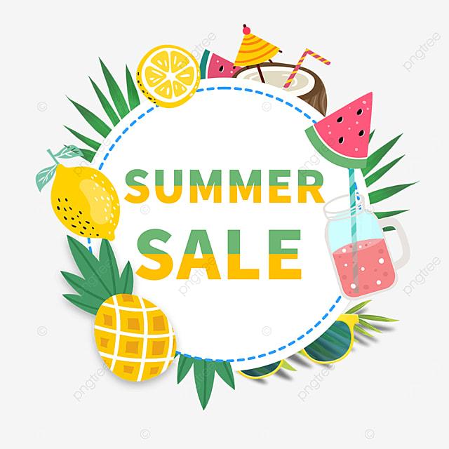 summer fruit round border