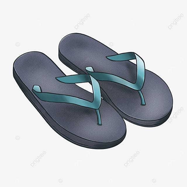 summer gray blue flip flops clipart