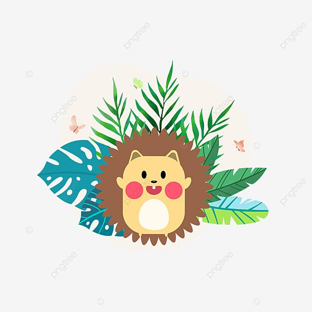 summer plant animal cartoon hedgehog