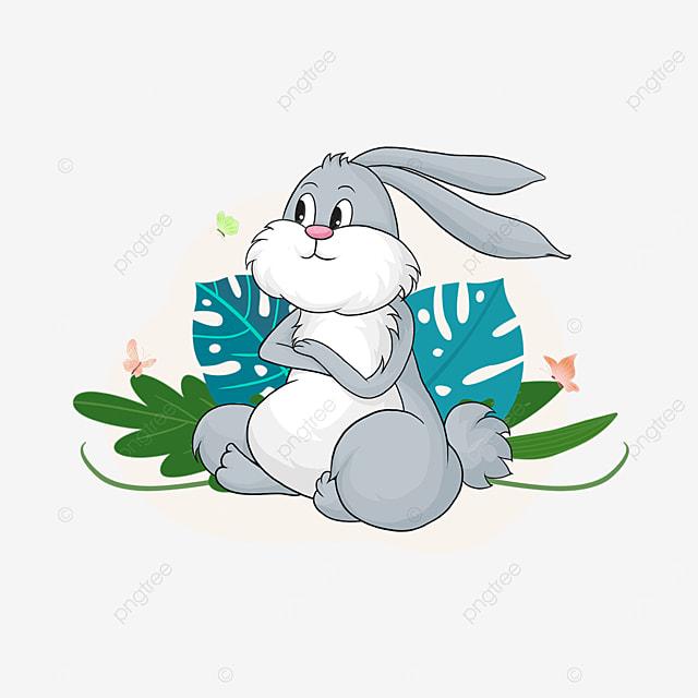 summer plant animal cartoon rabbit