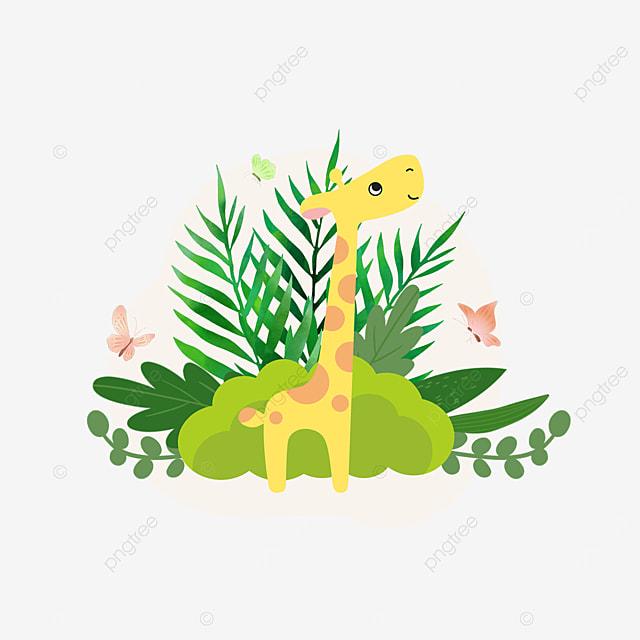 summer plant cartoon giraffe animal