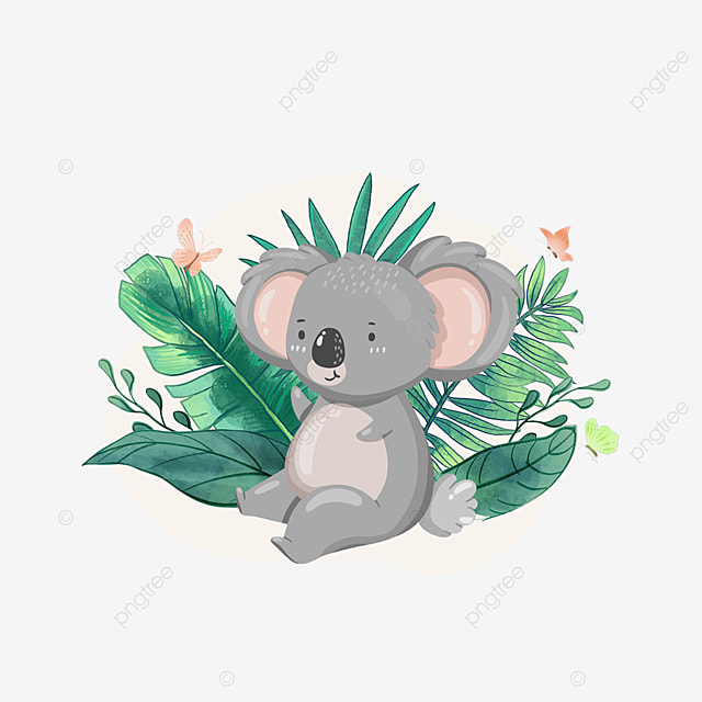 summer plant cartoon koala animal