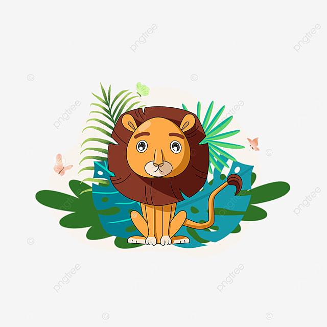 summer plant forest lion clip art
