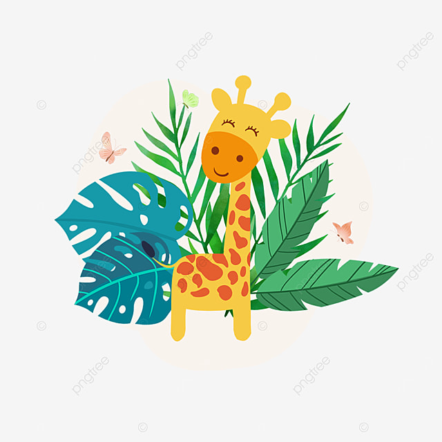 summer plant giraffe animal