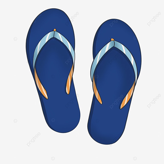 summer royal blue flip flops clipart