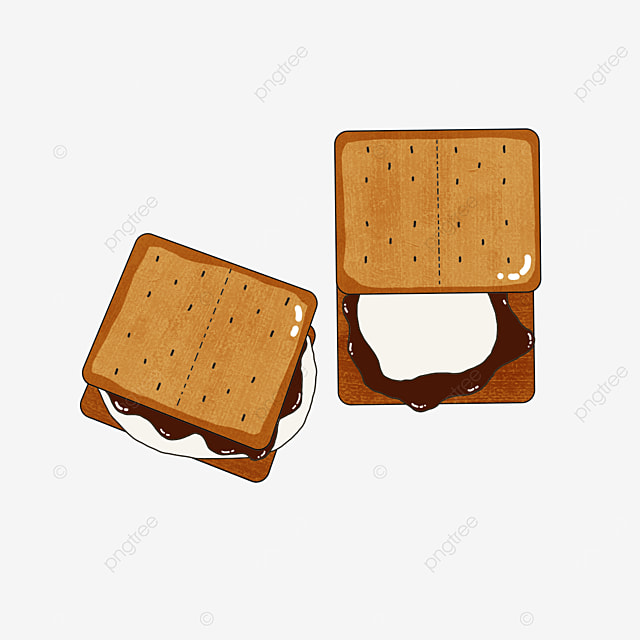 sweet graham cookies clip art