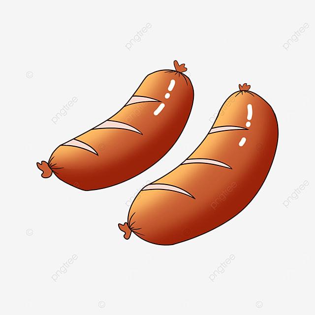 tempting sausage clipart