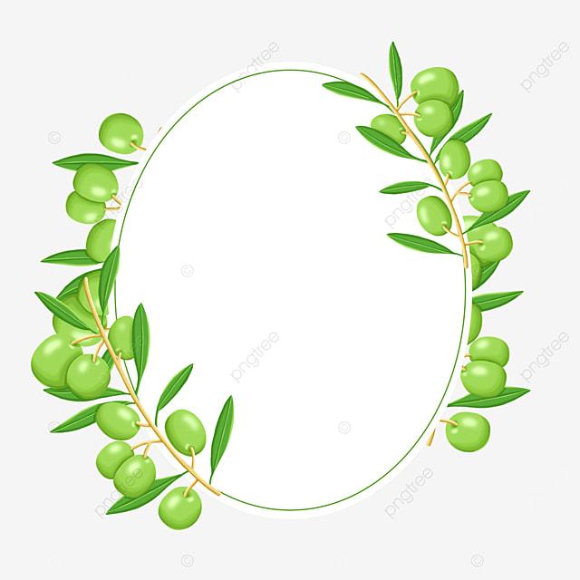 tender green olive creative border